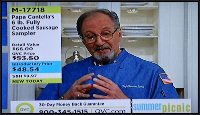 "Damon Leigh as ""Chef Damiano Leone"" on QVC TV"