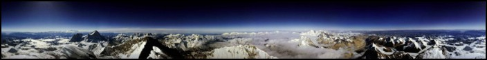 View from the summit of Mt. Everest