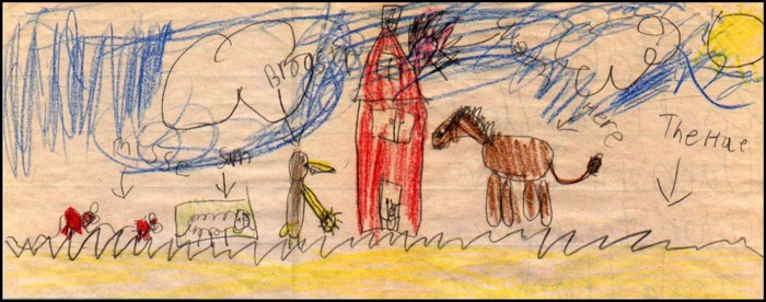 Picture drawn by Marleina (age 7) - 10/23/02